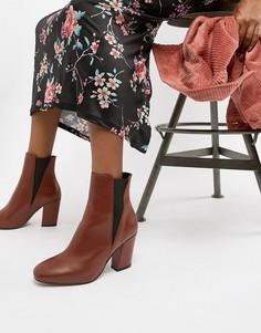 Кожаные ботинки челси ASOS DESIGN Evita - Красный