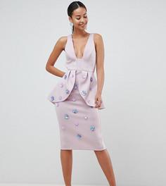 Платье-футляр с отделкой ASOS DESIGN Tall - Фиолетовый