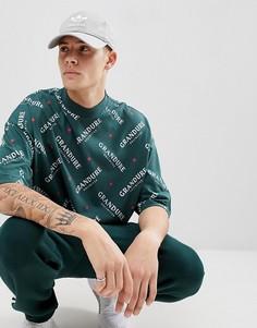 Oversize-футболка с принтом и укороченными рукавами ASOS DESIGN - Зеленый