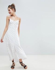 Платье макси на пуговицах Hollister - Белый