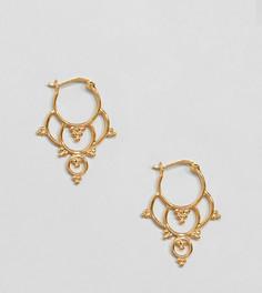 Серебряные позолоченные серьги-кольца ASOS DESIGN - Золотой