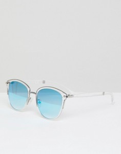 Солнцезащитные очки с голографическим эффектом Missguided - Синий