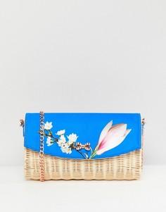 Соломенный клатч с цветочной отделкой Ted Baker - Синий