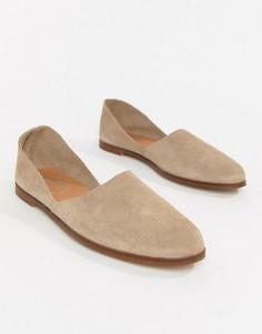 Замшевые туфли на плоской подошве Depp - Светло-бежевый