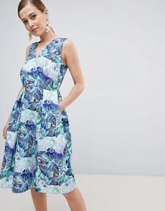 Платье с цветочным принтом Closet London - Мульти
