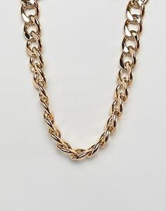 Золотистое массивное ожерелье-цепочка ASOS DESIGN - Золотой
