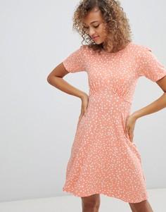 Чайное платье мини в горошек ASOS DESIGN - Мульти