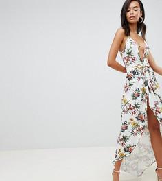 Платье макси с цветочным принтом ASOS DESIGN Tall - Мульти