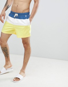 Шорты для плавания синего/белого/желтого цвета Abercrombie & Fitch - 5 дюймов - Мульти