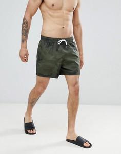 Зеленые шорты для плавания с камуфляжным принтом Abercrombie & Fitch - 5 дюймов - Зеленый