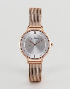 Часы цвета розового золота Skagen SKW2151 Anita - Золотой
