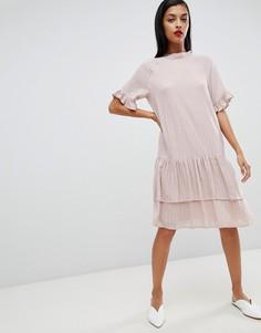 Платье в полоску Selected Femme - Розовый