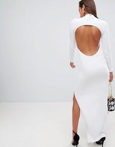 Платье макси с открытой спиной ASOS DESIGN - Белый
