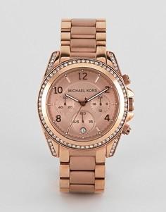 Золотисто-розовые часы-браслет Michael Kors MK5263 Blair - Золотой