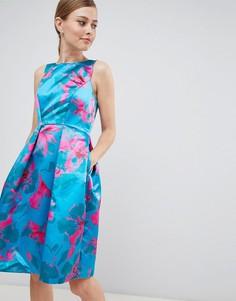 Платье для выпускного с цветочным принтом Closet London - Мульти