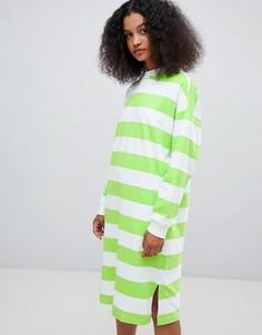 Платье миди в полоску Monki - Мульти
