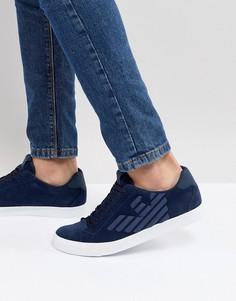 Темно-синие кроссовки EA7 - Темно-синий