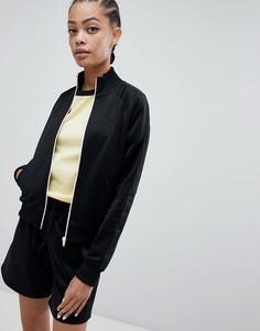 Спортивная куртка с фирменной лентой Fred Perry - Черный