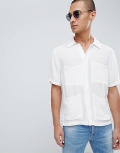 Рубашка с короткими рукавами Nudie Jeans Co Svante - Белый