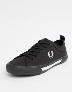 Черные парусиновые кроссовки Fred Perry Horton - Черный