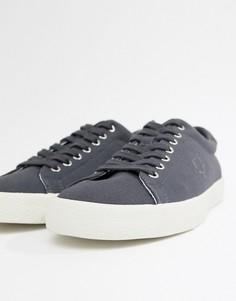 Серые парусиновые кроссовки Fred Perry - Серый