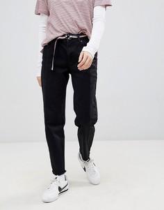 Черные джинсы в винтажном стиле 2 оттенков с необработанными краями Pull&Bear - Мульти Pull&Bear