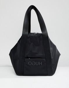 Нейлоновая сумка с логотипом HUGO - Черный