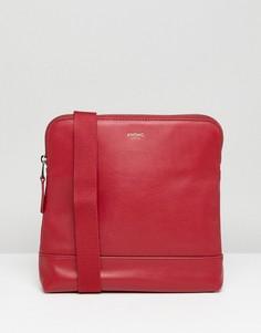 Кожаная сумка через плечо Knomo London - Красный