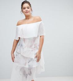 Ярусное платье с принтом Coast Plus Tara - Мульти