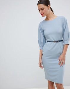 Платье-футляр с поясом Closet London - Синий