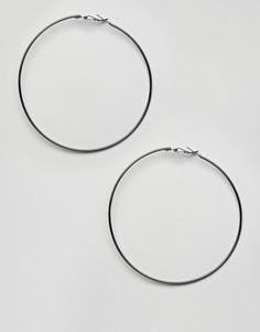 Крупные серьги-кольца цвета пушечной бронзы Missguided - Серый