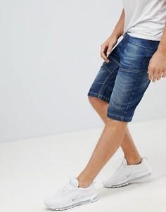 Темные джинсовые шорты Crosshatch - Темно-синий