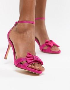 Босоножки на каблуке с бантом Coast - Розовый