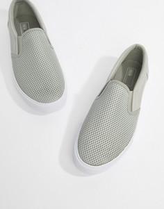 Серые сетчатые кеды-слипоны ASOS DESIGN - Серый
