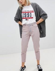 Укороченные джинсы в винтажном стиле Pull&Bear - Розовый Pull&Bear
