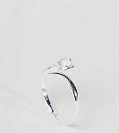 Серебряное кольцо с гравировкой и камнем ASOS DESIGN - Серебряный