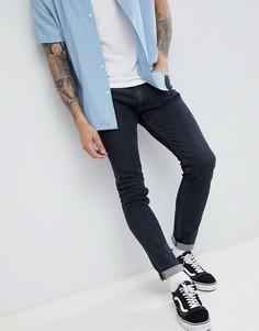 Выбеленные черные джинсы скинни Lee Luke - Черный