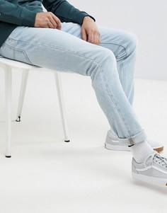 Узкие светлые джинсы Lee Rider - Синий