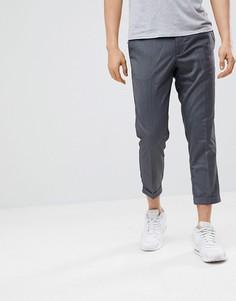 Серые брюки Pull&Bear Tailored - Серый Pull&Bear