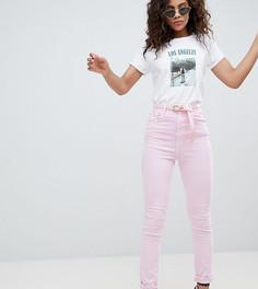 Выбеленные розовые джинсы в винтажном стиле с завышенной талией и ремнем ASOS DESIGN Tall Farleigh - Розовый