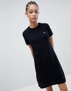 Платье-футболка Fred Perry - Черный