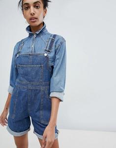 Короткий джинсовый комбинезон Calvin Klein Jeans - Синий