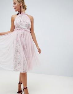 Платье миди с цветочным принтом ASOS DESIGN - Мульти