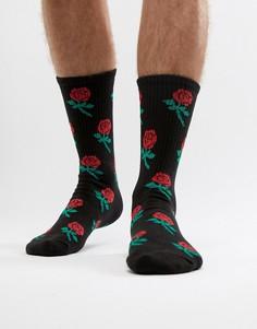 Носки с розами Pull&Bear - Черный Pull&Bear