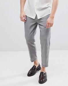 Серые строгие брюки в клетку Pull&Bear - Серый Pull&Bear