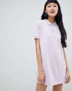 Сиреневое платье колор-блок Pull&Bear - Мульти Pull&Bear