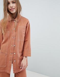 Джинсовая куртка из комплекта Pull&Bear - Коричневый Pull&Bear