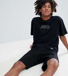 Черная oversize-футболка с логотипом Pull&Bear Exclusive - Черный Pull&Bear