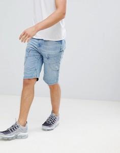 Светлые джинсовые шорты Crosshatch - Синий