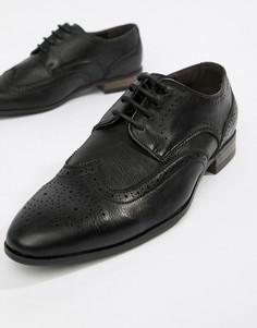 Черные броги из искусственной кожи New Look - Черный